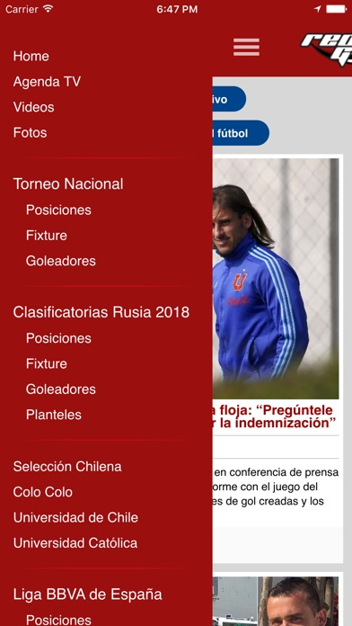 Screenshot for RedGol in Chile App Store