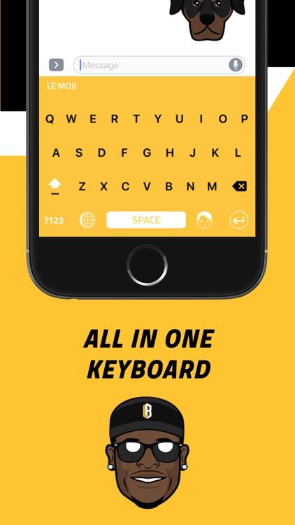 Le'Moji - Official Le'Veon Bell Emoji Keyboard screenshot-3