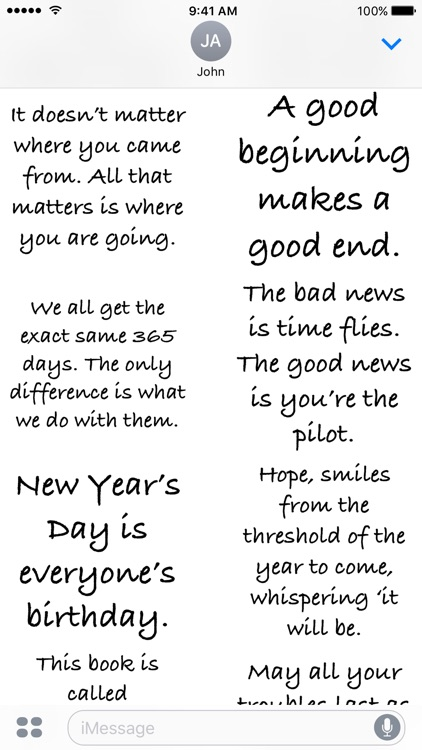 New Year Quotes - A to Z Stickers by Mohan Shyam Athivarapu