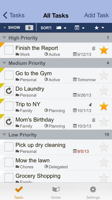 Toodledo: Todo Lists - Notes - Outlines - Habitsのスクリーンショット