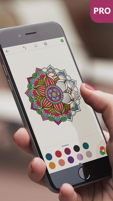 マンダラ塗り絵 無料 PRO : おとなのぬりえ 本 - 曼荼羅 塗り絵 塗り絵アプリのおすすめ画像1