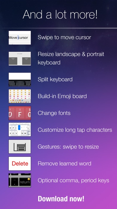 Blink Keyboard-one-hand, fast Screenshot on iOS