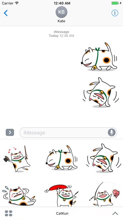 Cat Kun Stickers for iMessage