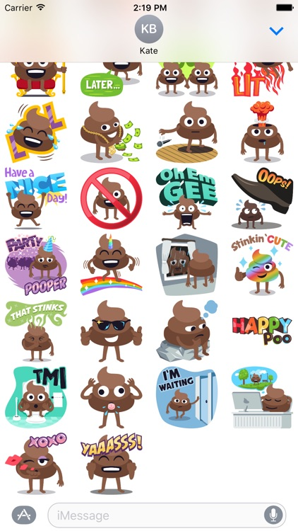 Happy Poo: Stickers by EmojiOne screenshot-4
