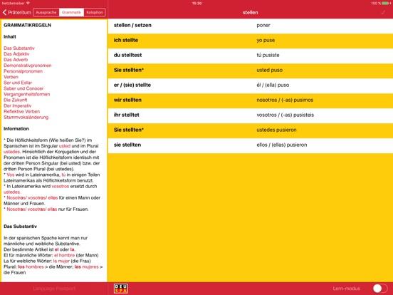 Kennenlernen spanisch konjugation