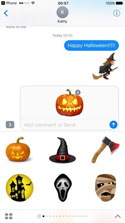 Halloween Stickers Pumpkin Monster Emojis
