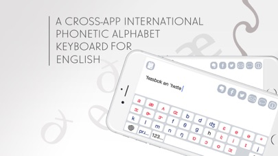 English Phonetic Keyboard with IPA symbols screenshot one