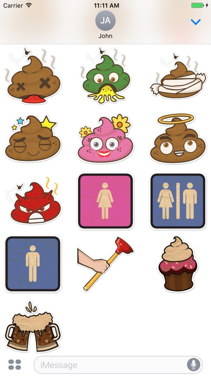 PooPoo Head Sticker Pack screenshot-0