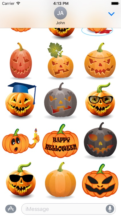Happy Halloween Pumpkin Sticker Pack 01