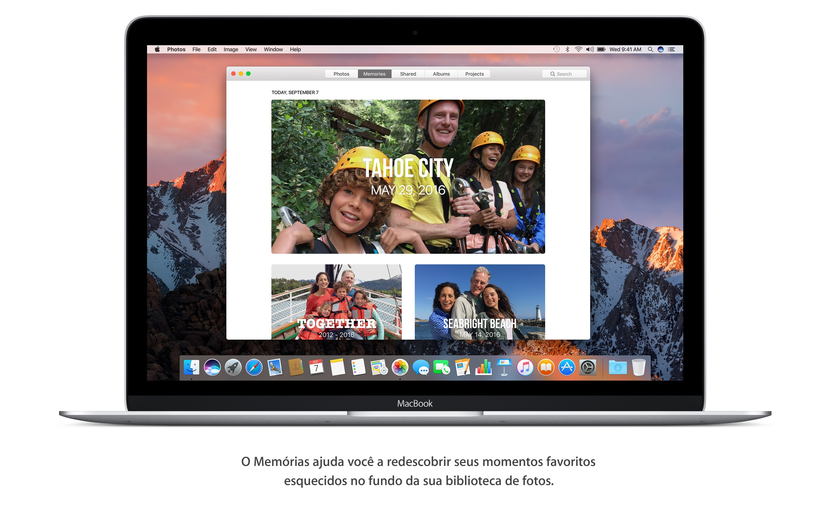 Screenshot do app macOS Sierra
