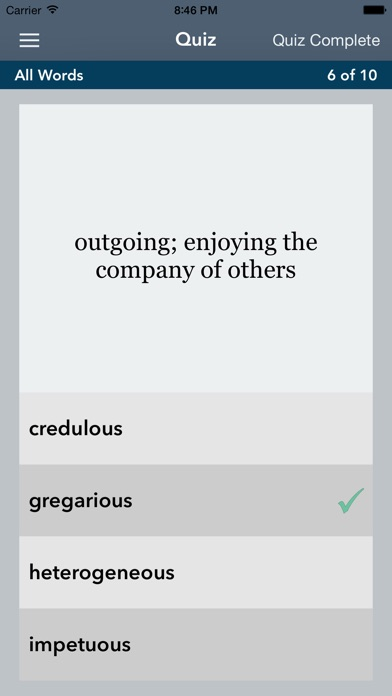 GRE®   GMAT® Vocabulary Builder with AccelaStudy® screenshot four