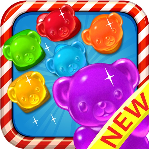 Candy Gummy Bears - For match 3 candy drop puzzle