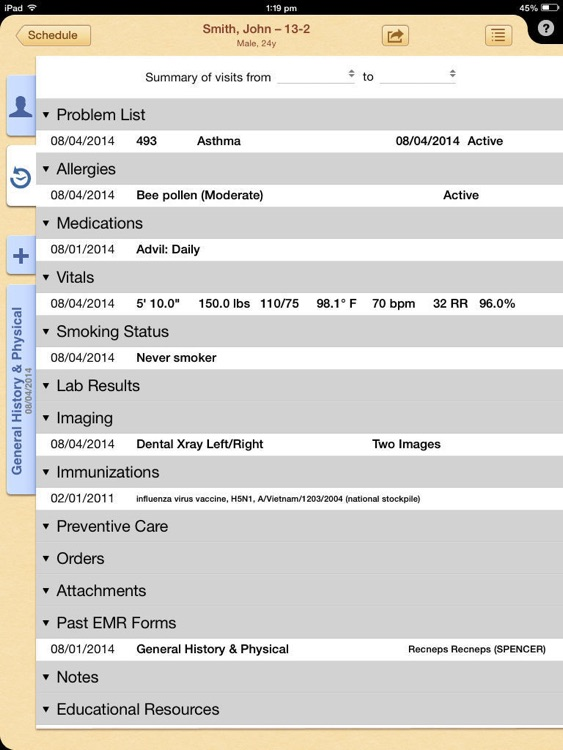 MacPractice iEHR 7.0 screenshot-2