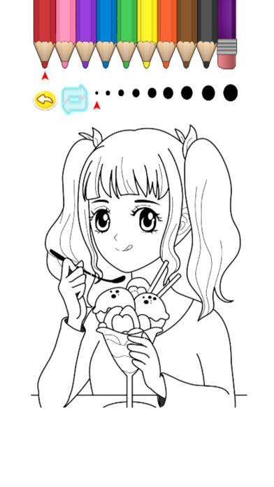 Kids Coloring Book - Misaka screenshot two