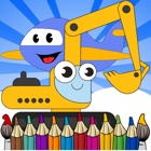 Vehicle color book free crayon games for toddler 2 icon