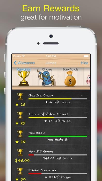 Allowances, Chore & Reward Charts: iAllowance screenshot-3