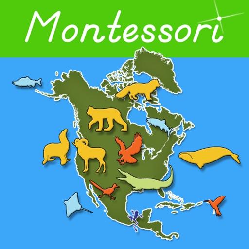 Animals of North America - Montessori Geography icon