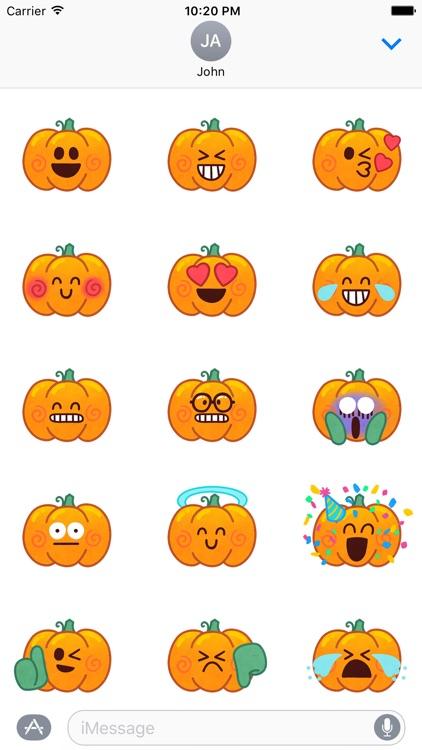 Jack-o-Moji Stickers by Mojimade