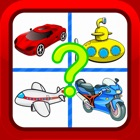 Vehicles Cartoon Fun Picture Quiz Puzzles for Kids icon