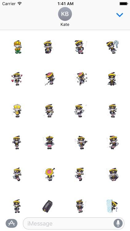 Zombie Ghost Sticker - Emoji