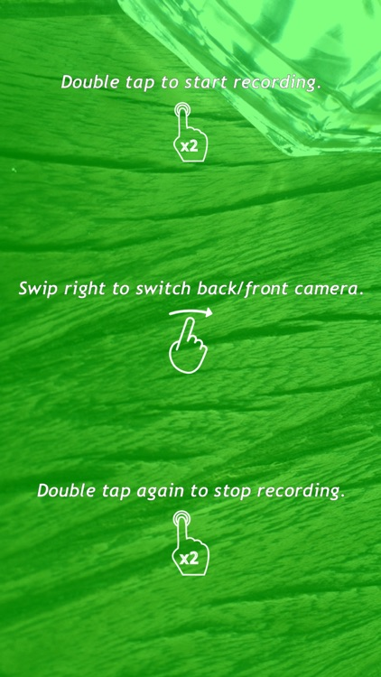 Night style camera video recorder - Recording night vision videos with green color screen