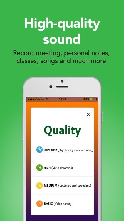 Hi-Q Voice Recorder Pro screenshot-2