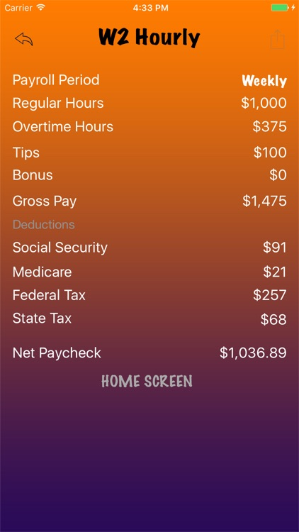 Quick Paycheck screenshot-4