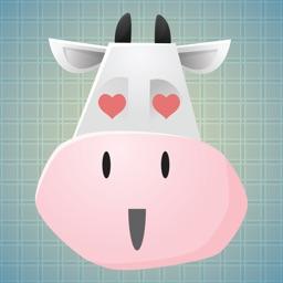 Sticker Me: Cow Faces