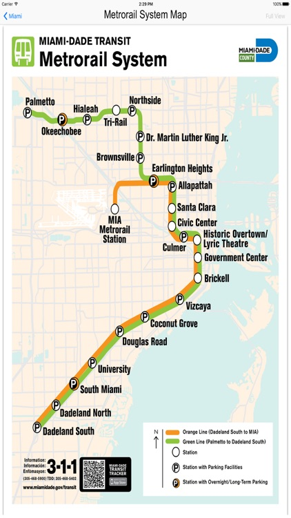Miami Metro Rail Maps
