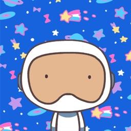 Astronaut Animated Stickers