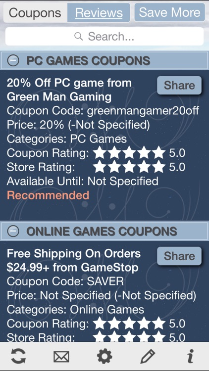 Game Coupons, Free Video Game Discount