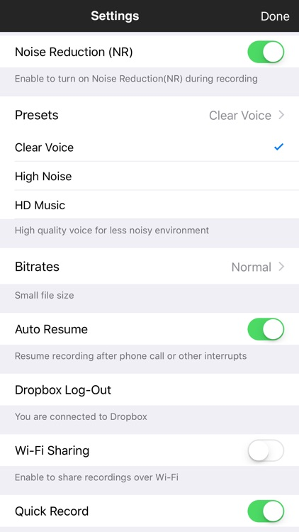 ClearRecord Pro – Noise free voice recorder screenshot-1