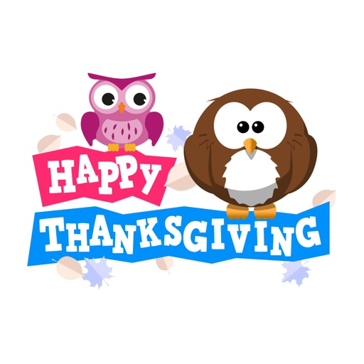 Cute Owl Stickers - Thanksgiving Owls for iMessage