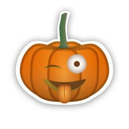 Pumpkin emoji Stickers for Halloween