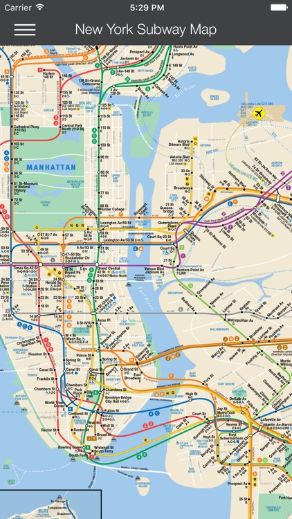 Basic Nyc Subway Map App.New York Subway Map Nyc By Wave18 Ltd