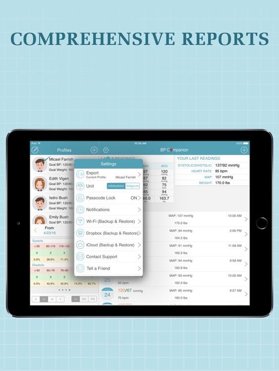 Blood Pressure Companion Pro for iPad screenshot-3