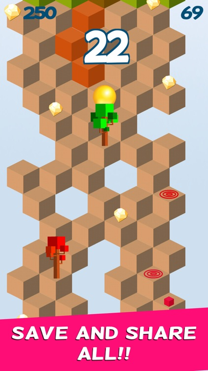 Cube Skip Ball Games screenshot-2
