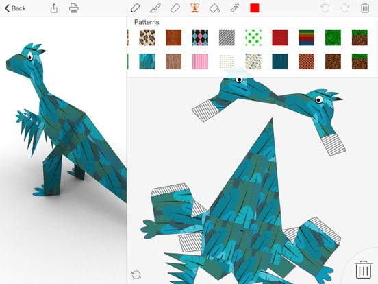 Foldify Dinosaurs Screenshots