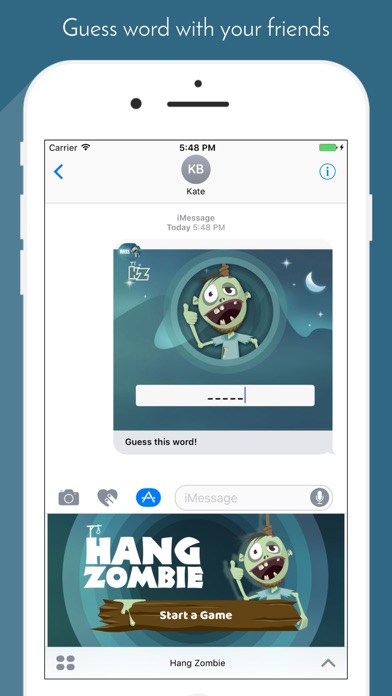 HangMan Zombie: Guessing word game for iMessage