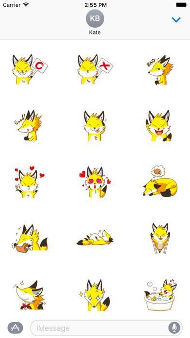 Little Golden Fox Sticker
