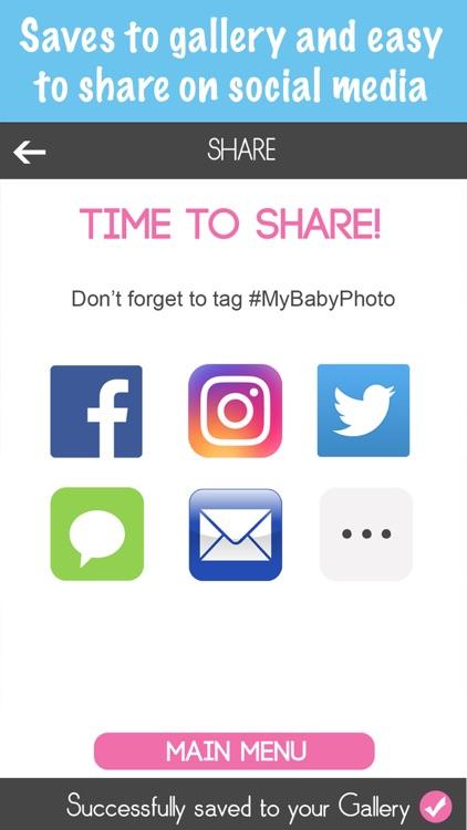 Baby Milestone Stickers Pregnancy Pic Editor Maker screenshot-4
