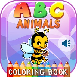 ABC Animals Phonics Coloring Books Games For Kids