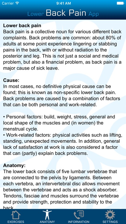 Lower Back Pain App screenshot-3