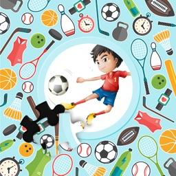 Cartoon Sports Tap Puzzle Jigsaw