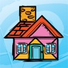 Kids Doodle & Discover: Houses, Cartoon Tangram