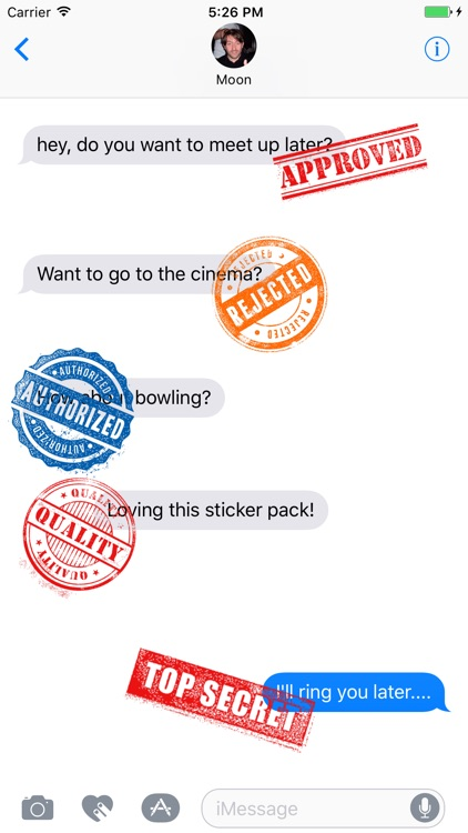 Rubber Stamp Stickers screenshot-1