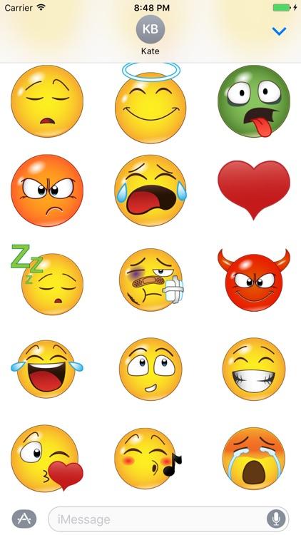 Yellow Smileys Emoticons screenshot-3