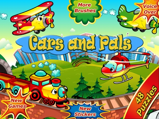 Car Games Fun Puzzles for Kids на iPad