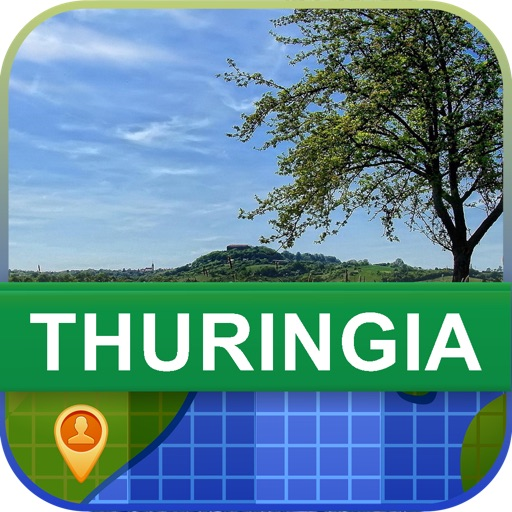 Offline Thuringia, German Map - World Offline Maps