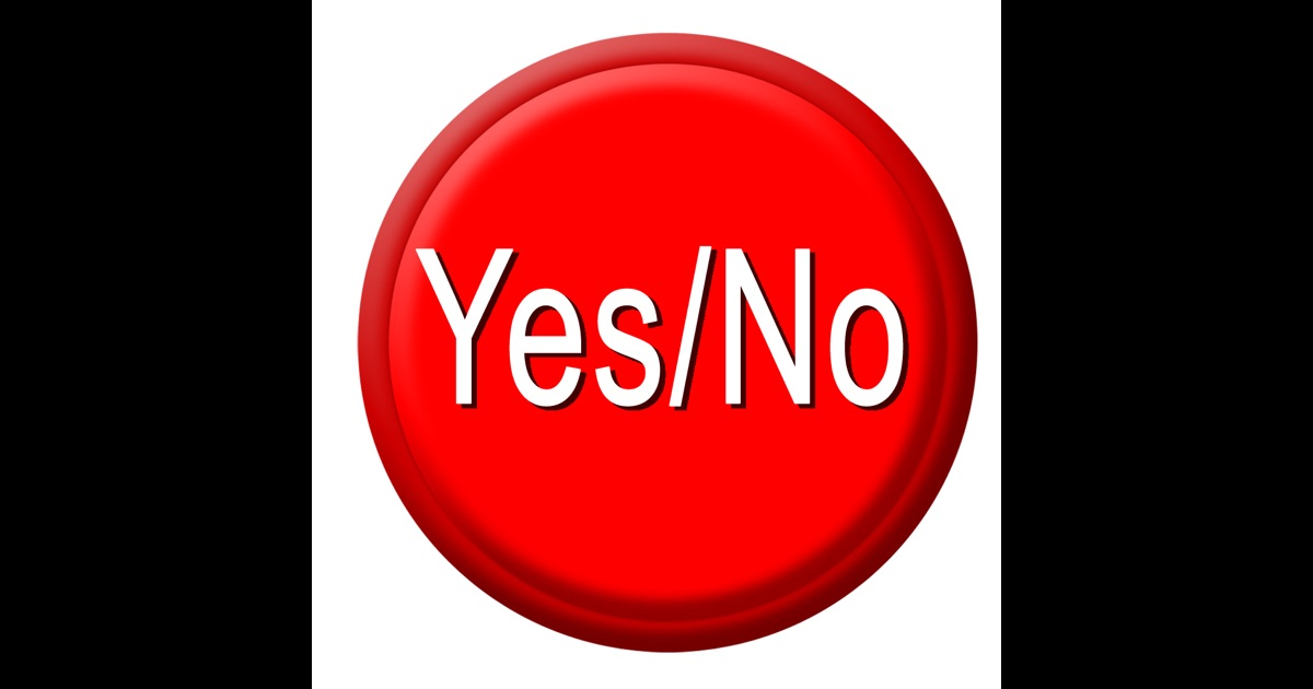 Yes / No Button Free on the App Store